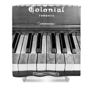 Colonial Piano Shower Curtain