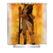 Colonial Soldier Photo Art  Shower Curtain by Thomas Woolworth