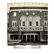 Colonial Theater In Phoenixville In Sepia Shower Curtain