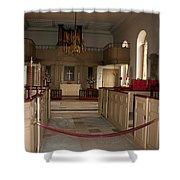 Colonial Williamsburg Church  Shower Curtain