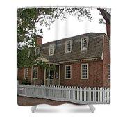 Colonial Williamsburg Scene Shower Curtain