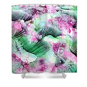 Color Abstract Red-green Shower Curtain