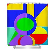 Color And Shape Series #1 Shower Curtain