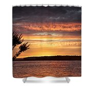 Color At Last Light Shower Curtain