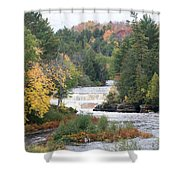 Color At The Falls Shower Curtain
