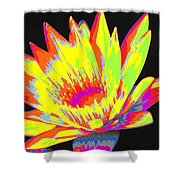 Color Blasted Shower Curtain