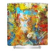 Color Burst #1 Shower Curtain