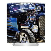 Color Chrome 1932 Black Ford Coupe Shower Curtain