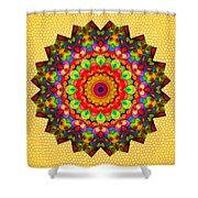 Color Circles Kaleidoscope Shower Curtain