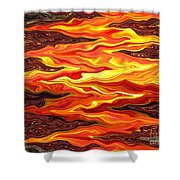 Color Fashion Waves Shower Curtain