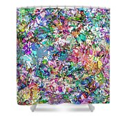 Color Filled Abstract Shower Curtain