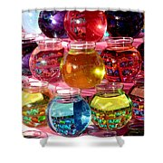 Color Fish Bowls Shower Curtain