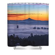 Color Fog Mountain Shower Curtain