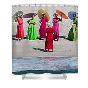 Color Girls Shower Curtain