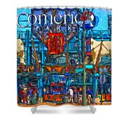 Color In Comerica Shower Curtain