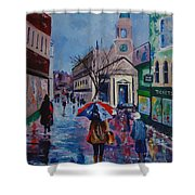 Color In The Rain Shower Curtain