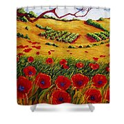 Color In The Vineyards Shower Curtain