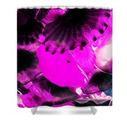 Color Infared Glass Flowers Shower Curtain