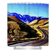 Color My Road Shower Curtain