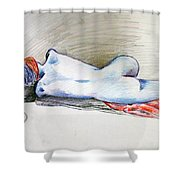 Color Nude #1 Shower Curtain