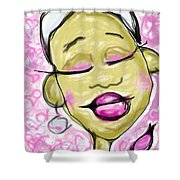 Color Of Courage Shower Curtain
