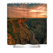 Color Of The Grand Canyon South Rim V8 Shower Curtain