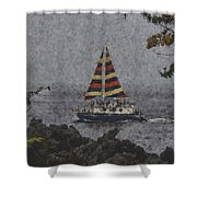 Color Of The Sails Shower Curtain