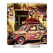 Color On The Road In Krakow- Poland Shower Curtain