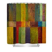 Color Panel Abstract Ll Shower Curtain by Michelle Calkins