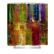 Color Panel Abstract Shower Curtain by Michelle Calkins