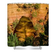 Color Pit Shower Curtain