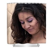 Color Portrait Young Spanish Woman II Shower Curtain