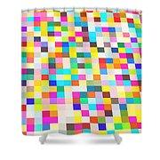 Color Quilt Shower Curtain