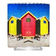 Color Reflected Shower Curtain