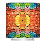 Color Revival - Abstract Art By Sharon Cummings Shower Curtain