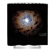 Color Ring Around The Moon Shower Curtain
