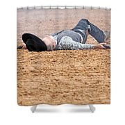 Color Rodeo Gunslinger Victim Shower Curtain