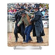 Color Rodeo Shootout Deputies Arrest Outlaw Shower Curtain