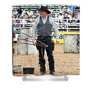 Color Rodeo Shootout Gunslinger Shower Curtain