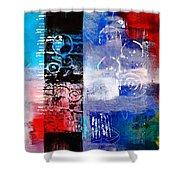 Color Scrap Shower Curtain by Nancy Merkle