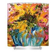 Color Splash Shower Curtain by Barbara Pirkle
