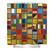 Color Study Collage 65 Shower Curtain