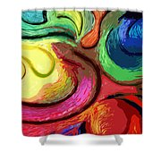 Color Swirl Shower Curtain