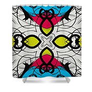Color Symmetry 3 Shower Curtain