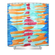 Color Totem Shower Curtain