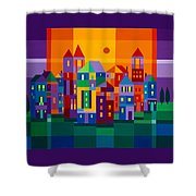 Color Town Shower Curtain