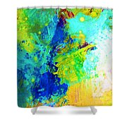 Color Wash Abstract Shower Curtain