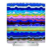 Color Waves No. 4 Shower Curtain