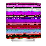 Color Waves No. 6 Shower Curtain