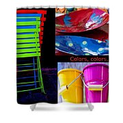 Color Your Life 1 Shower Curtain